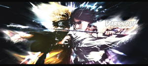 Sign Naruto vs Sasuke by DarkWolfCD