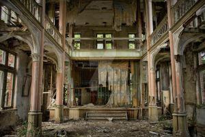 urbex chateau with theatre by ashleygino