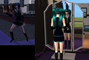 Hatsune Miku :: Sims2 by NuciComs