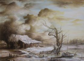 Dan Scurtu - Winter Landscape by DanScurtu