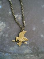 Mockingjay Necklace by candymonsters