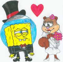 A SpongeBob+Sandy Wedding Pic by nintendomaximus