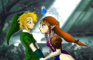 Link and Zelda love moment by rodneywoof