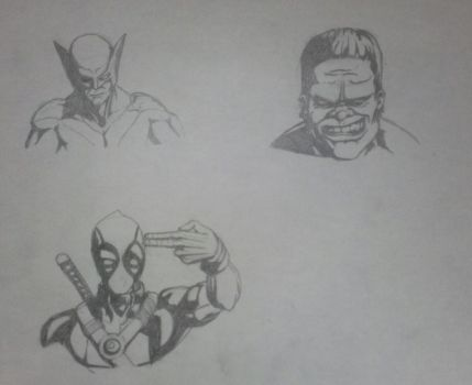 Marvel Busts by D1u9c7k9