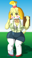 Saucy Anthro Isabelle by Dekomaru