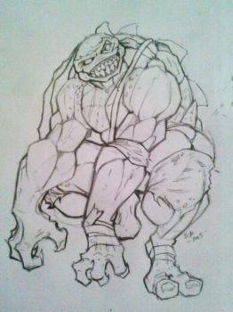 TMNT Slash sketch  by PYRE by TheGreenSkeletor