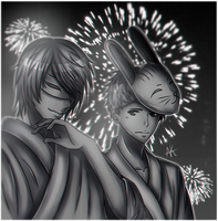 (MnG) Vincent and Ryuji in Festival by Absolute-King