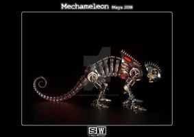 Mechameleon Side View by iFeelNoSorrow
