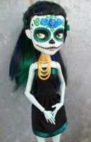 Monster High Day of the Dead Commission Custom by AdeCiroDesigns