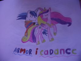 Drawing - Cadance and Shining Armor by PepperClarkLPS
