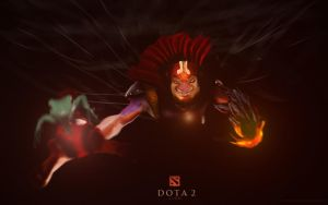 DOTA 2 - Lion poster (with frog) by Mwingine