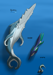 Pokemon Concept #13 - Squiggleely Family by PencilFantasy