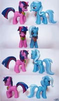 Magic Duel Twilight and Trixie customs by lazyperson202