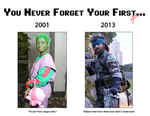 Then and Now - Cosplay Meme by SnowBunnyStudios