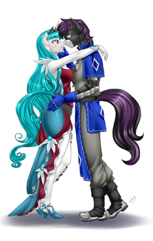 Commission - Angel Song and Prince Knight Light by Pia-sama