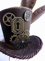 Steampunk Brown Tiny Top Hat by MiniTopHat