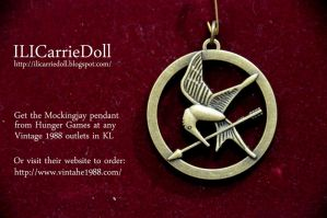 Mockingjay Pendant by ILICarrieDoll