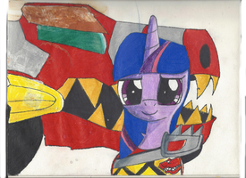 Red Kyuryuger Twilight! by DarkAlicornWarrior