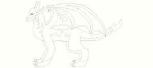 Dragon Adoptable (You color it in) by Amuth89