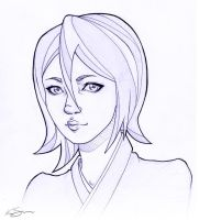 Kuchiki Rukia doodle by new-moon-night
