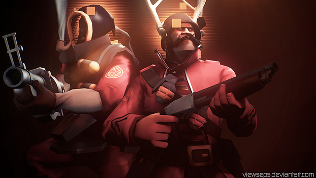 Team Fortress 2 (TF2) - Soldier and Demoman by ViewSEPS