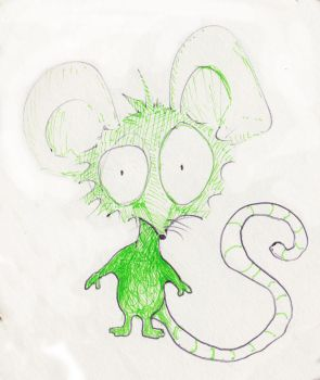 Green mouse by dandolby