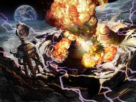 kaboom on the moon by davidhueso