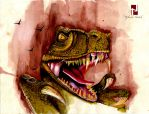 T-Rex painting by Nytheish