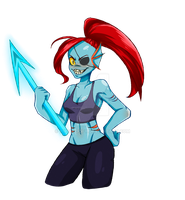 Undyne [Collab] by Airusa-Chan