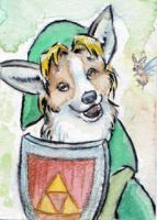 Link Corgi ACEO by Stormslegacy