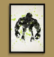 The Hulk - watercolor print by ColourInk