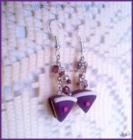 Purple cake earrings - type 2 by CookingMaru