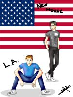 Vegetta777 y Willyrex- LLegada a Los Angeles by TamaraWandererFray