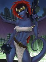 Newer Demona SFW version by SunsetRiders7