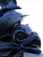 Fish Lampost on Thames by AngelSamui