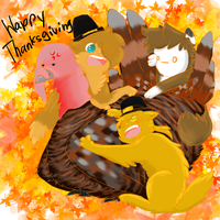 Happy ThanksGiving Bros by AskPewDie-The-Cat