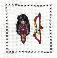 Sailor Mars Cross Stitch by JealaTriumph