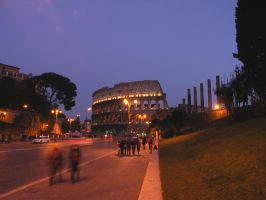 Colosseo in luci artificiali by greendruid