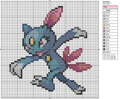 215 - Sneasel by Makibird-Stitching
