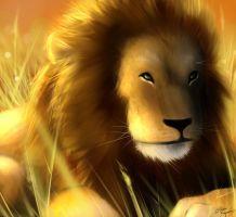 The Lion slaKING by RhythmAx