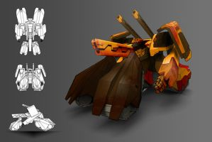 Cannon Robot Concept by SrMOG