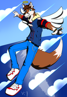 Kitsune in the sky by Vent-Kazemaru