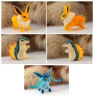 Jolteon Glaceon Cyndaquil by hontor