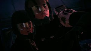 ME1 Eden Prime - Ashley and Kaidan by chicksaw2002