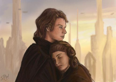 Anakin and Padme by Scifi-Fans