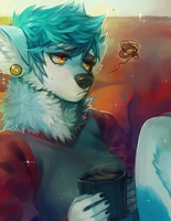 ::Commission:: Speedpaint // Spazzyhusky by Jotaku