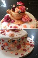 Details of the 'tea party' cake by thesearejessicakes