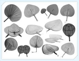 14 Realistic Cattail Leaf Fan Brushes by Jiangsir