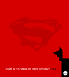 BatmanVsSuperman Minimal Movie Poster by Raj-chourasiya