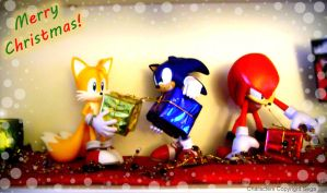 Sonic Gift Exchange by MREcartoonist